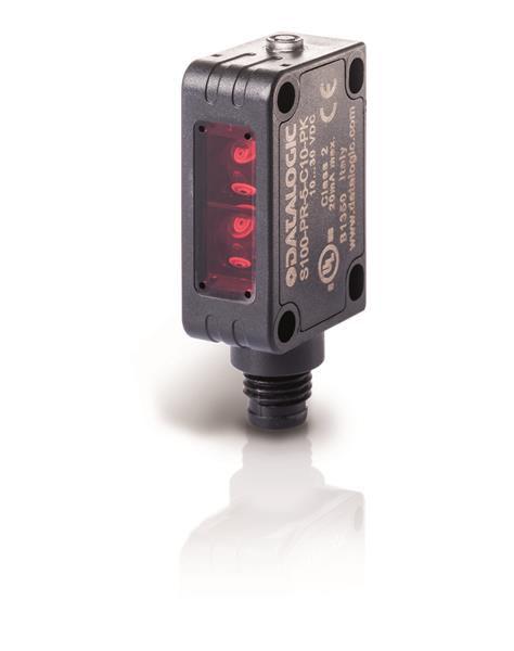 S100-PR-5-B00-NK, Reflexlichtschranke, NPN, 20x12x32 mm, M8 Stecker, Datalogic