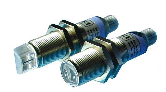 S51-MA-2-B01-PK, M18x1 Metall, Datalogic, Reflexlichtschranke, 0,1-3 m, 2m Kabel