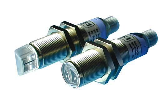S5N-MA-5-B01-PP, M18x1, Metall, Reflexlichtschranke, PNP, M12 Stecker, Datalogic